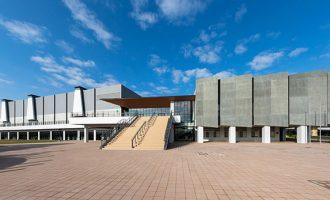 (仮称)大浜体育館建替整備運営事業 東面外観