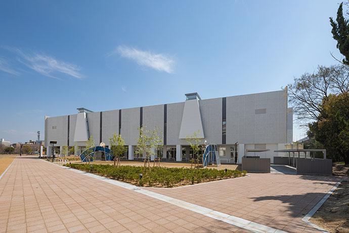 (仮称)大浜体育館建替整備運営事業 武道館棟 北面外観